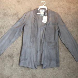 York Street Coated open blazer